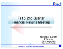 FY15 2Q Financial Presentation