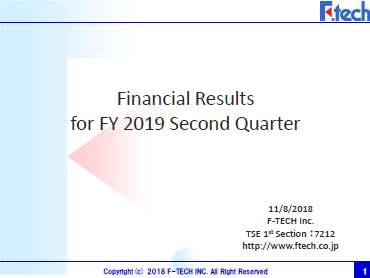 FY19 2Q Financial Presentation