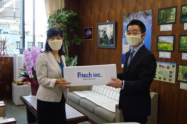 左:小池環境部長様 右:福田社長